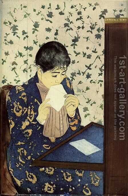 The Letter, 1890-91 by Mary Cassatt - Reproduction Oil Painting