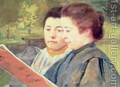 Women Reading by Mary Cassatt - Reproduction Oil Painting