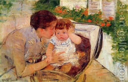 Susan Comforting the Baby, c.1881 by Mary Cassatt - Reproduction Oil Painting