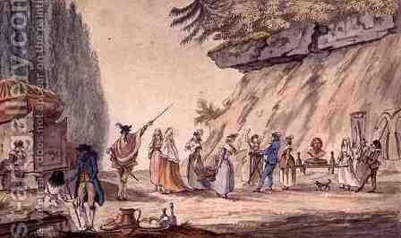 Parody of a Procession for Mr Rongier, 1794 by J. B. Cassini - Reproduction Oil Painting