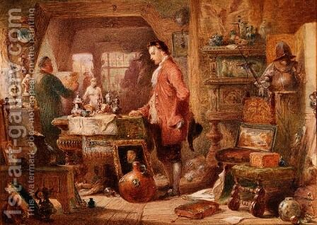 The Antique Shop by Charles Cattermole - Reproduction Oil Painting
