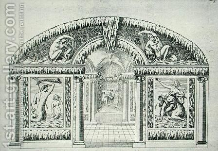 Grotto design from 'The Gardens of Wilton'  c.1645 by Isaac de Caus - Reproduction Oil Painting
