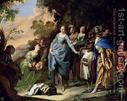 The Finding of Moses, c.1650-56 by Bernardo Cavallino - Reproduction Oil Painting