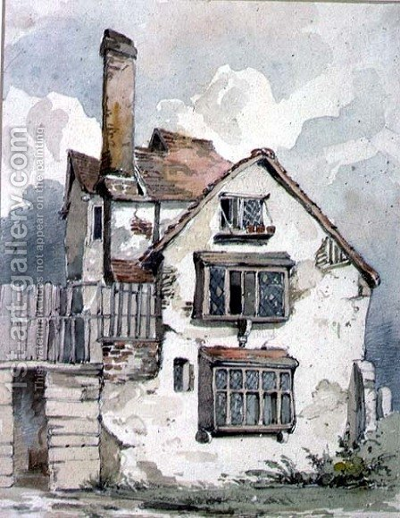An Old House at Cambridge by Henry Cave - Reproduction Oil Painting