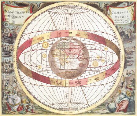 Planisphere, from 'Atlas Coelestis' by Andreas Cellarius - Reproduction Oil Painting