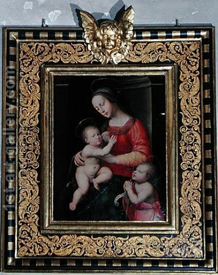 Madonna and Child with St. John the Baptist by Antonio del Ceraiolo - Reproduction Oil Painting
