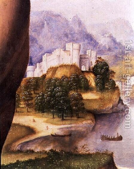 St. Jerome (detail of the landscape) by Cesare da Sesto - Reproduction Oil Painting