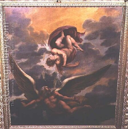 Daedalus and Icarus by Giuseppe (d'Arpino) Cesari (Cavaliere) - Reproduction Oil Painting