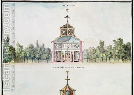 Cross-section of a kiosk, from 'Atlas du Comte du Nord', 1784 by Chambe - Reproduction Oil Painting