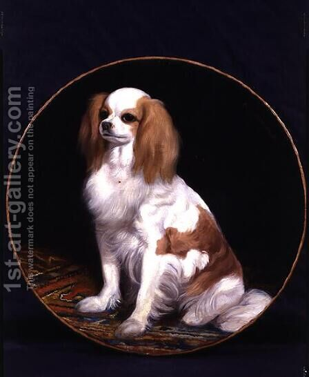King Charles Spaniel by Charles Emile Callande de Champmartin - Reproduction Oil Painting