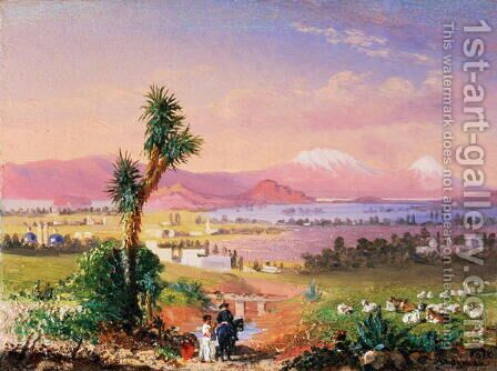 A View of Mexico City, 1878 by Conrad Wise Chapman - Reproduction Oil Painting