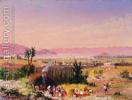 A View of Mexico City with an Encampment, 1878 by Conrad Wise Chapman - Reproduction Oil Painting