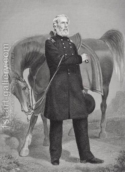 Portrait of General Edwin Vose Sumner (1797-1863) by Alonzo Chappel - Reproduction Oil Painting
