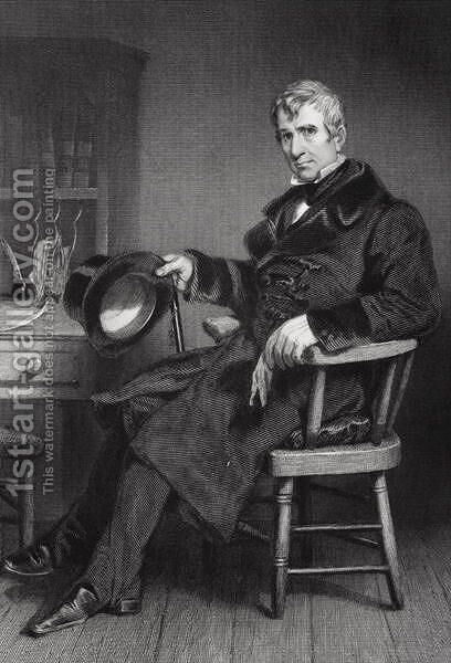 Portrait of William Henry Harrison (1773-1841) by Alonzo Chappel - Reproduction Oil Painting