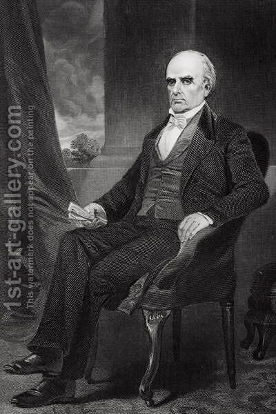 Portrait of Daniel Webster (1792-1852) by Alonzo Chappel - Reproduction Oil Painting