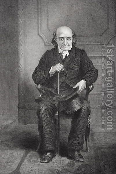 Portrait of Albert Gallatin (1761-1849) by Alonzo Chappel - Reproduction Oil Painting