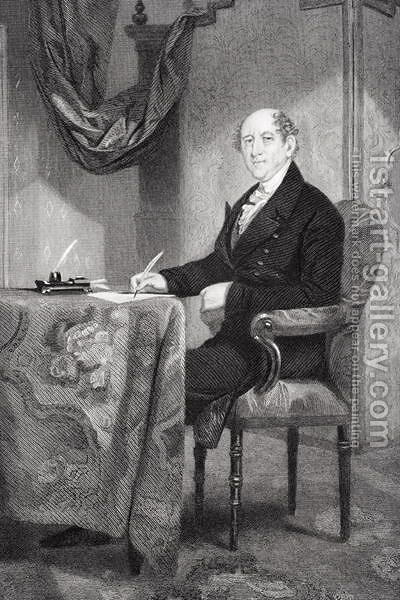 Rufus King (1755-1827) by Alonzo Chappel - Reproduction Oil Painting