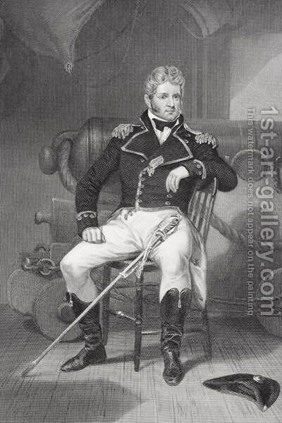 Portrait of Thomas Macdonough (1783-1825) by Alonzo Chappel - Reproduction Oil Painting
