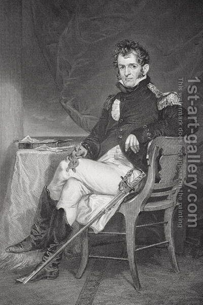 Portrait of David Porter (1780-1843) by Alonzo Chappel - Reproduction Oil Painting