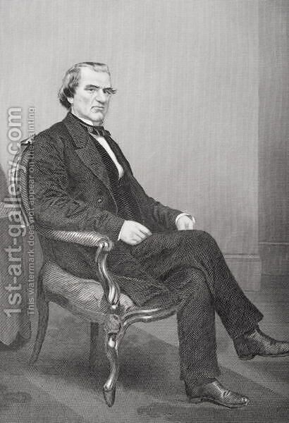 Andrew Johnson (1808-75) by Alonzo Chappel - Reproduction Oil Painting