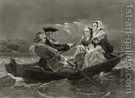 Lady Harriet Ackland on her way to visit the camp of General Gates, from 'Life and Times of Washington', Volume I,  1857 by Alonzo Chappel - Reproduction Oil Painting