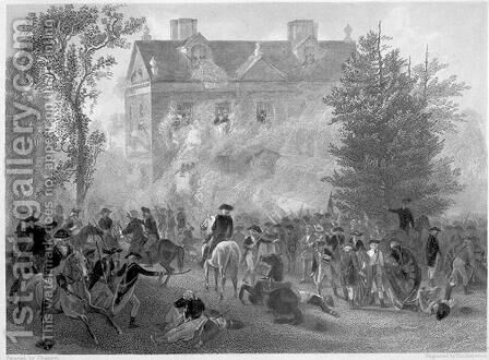 The Battle of Germantown at Chew House in 1777, c.1860 by Alonzo Chappel - Reproduction Oil Painting