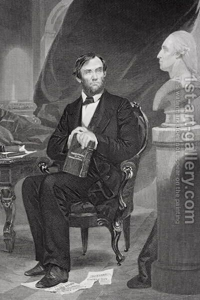 Portrait of Abraham Lincoln (1809-65) by Alonzo Chappel - Reproduction Oil Painting