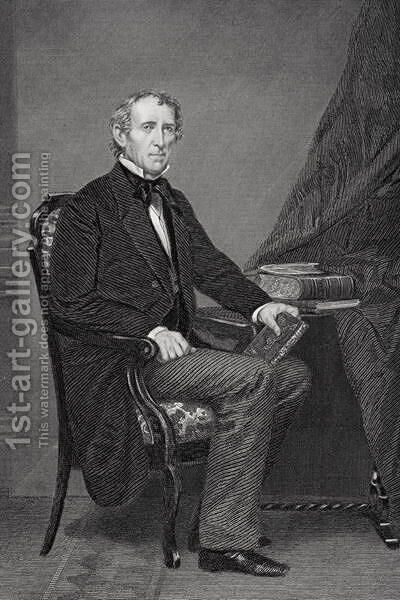 Portrait of John Tyler (1790-1862) 2 by Alonzo Chappel - Reproduction Oil Painting