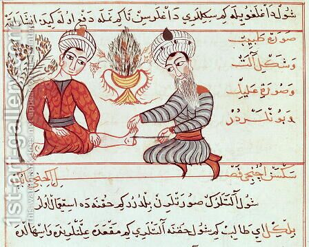 Ms Sup Turc 693 fol.125 Treatment of Boils and Warts, 1466 by Charaf-ed-Din - Reproduction Oil Painting