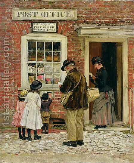 The Village Shop, 1887 by James Charles - Reproduction Oil Painting