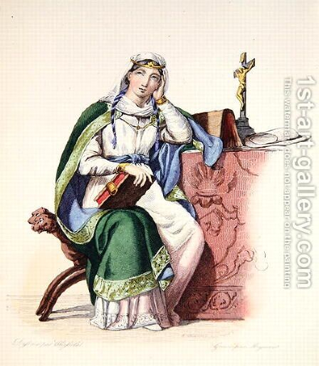 Heloise, illustration from 'Le Plutarque Francais', 1835 by Charles Abraham Chasselat - Reproduction Oil Painting