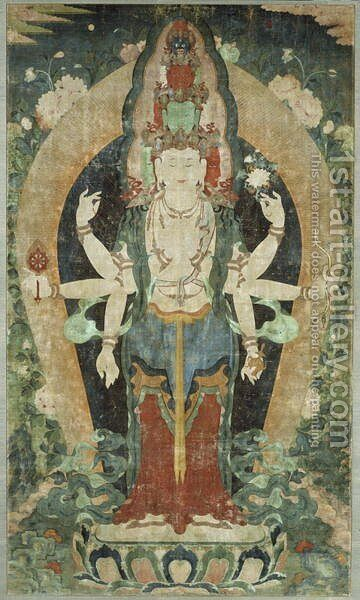 Eleven-Faced, Eight-Armed Avalokiteshvara by Anonymous Artist - Reproduction Oil Painting