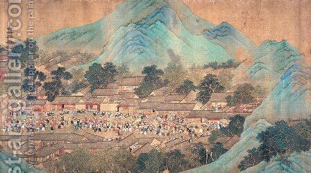 The Emperor Kiang Hsi on Tour in the Southern Provinces, 1699 by Anonymous Artist - Reproduction Oil Painting