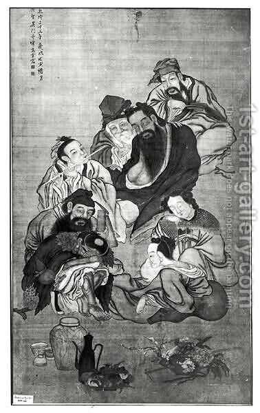 Pa Hsien, the Eight Immortals by Anonymous Artist - Reproduction Oil Painting