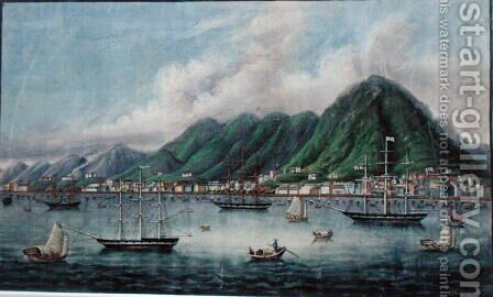 Victoria Island, Hong Kong, c.1865 by Anonymous Artist - Reproduction Oil Painting