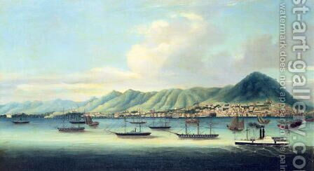 Victoria Island, Hong Kong (2) by Anonymous Artist - Reproduction Oil Painting