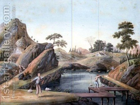 View of a Rock Quarry, 1820 by Anonymous Artist - Reproduction Oil Painting