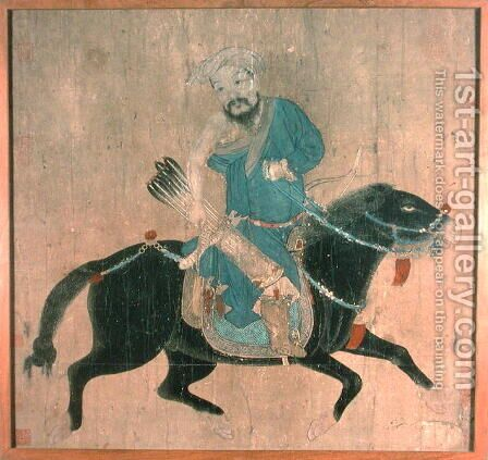 Mongol archer on horseback, from seals of the Emperor Ch'ien Lung and others, 15th-16th century by Anonymous Artist - Reproduction Oil Painting