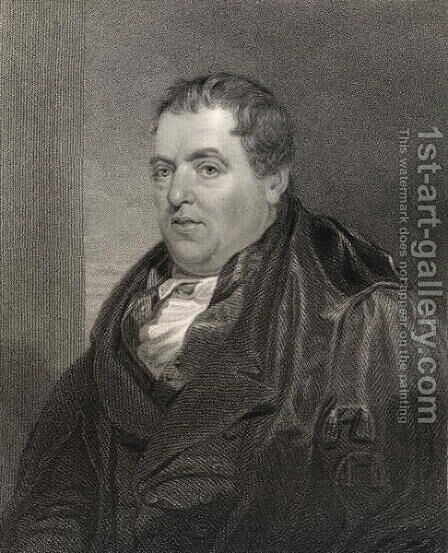 Sir John Leslie, from 'National Portrait Gallery, volume III',  c.1835 by (after) Chisholm, Alexander - Reproduction Oil Painting