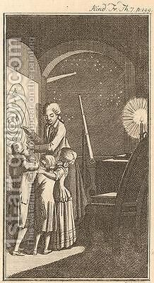The Astronomer, 1780 by Daniel Nikolaus Chodowiecki - Reproduction Oil Painting