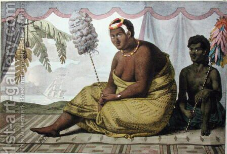 Ka'ahumanu, Queen of the Sandwich Islands, from 'Voyage Pittoresque autour du Monde', 1822 by (After) Choris, Ludwig (Louis) - Reproduction Oil Painting