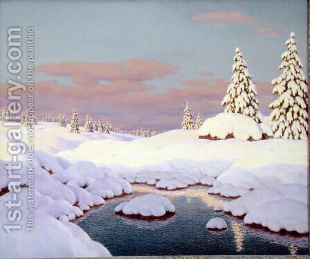 Scene d'Hiver by Ivan Fedorovich Choultse - Reproduction Oil Painting