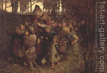 The Pied Piper of Hamelin, 1881 by James Elder Christie - Reproduction Oil Painting