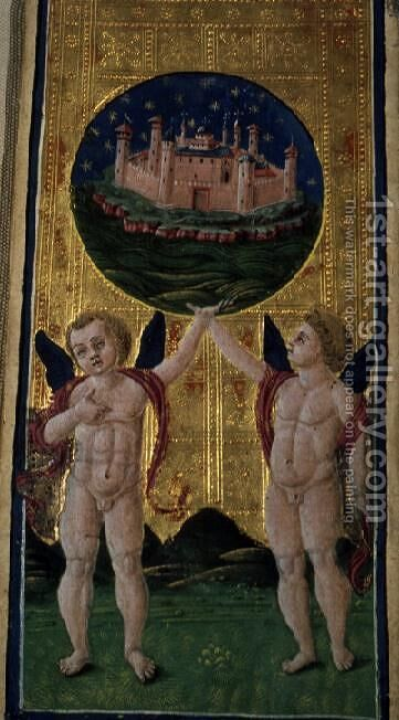 The World, tarot card, c.1490 by Antonio Cicognara - Reproduction Oil Painting