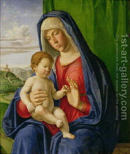 Madonna and Child, 1490s by Giovanni Battista Cima da Conegliano - Reproduction Oil Painting