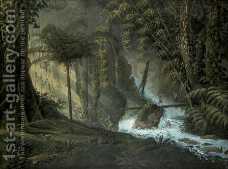 Brazilian Forest by Charles Comte de Clarac - Reproduction Oil Painting