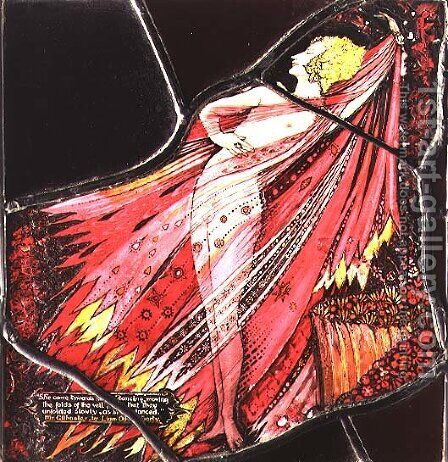The Geneva Window depicting a character from 'Mr Gilhooley', 1929 by Harry Clarke - Reproduction Oil Painting