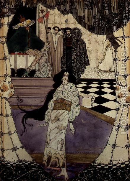 Illustration from The Little Mermaid, 1914 by Harry Clarke - Reproduction Oil Painting