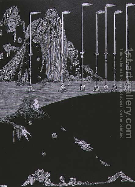 The Pit and the Pendulum, c.1923 by Harry Clarke - Reproduction Oil Painting