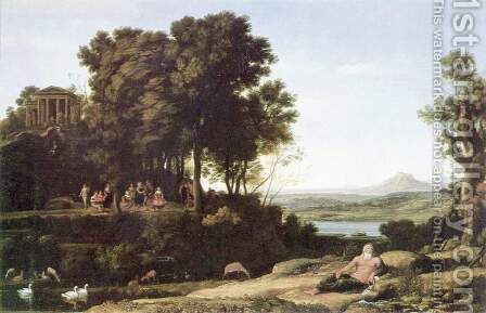 Landscape with Apollo and the Muses, 1652 by Claude Lorrain (Gellee) - Reproduction Oil Painting